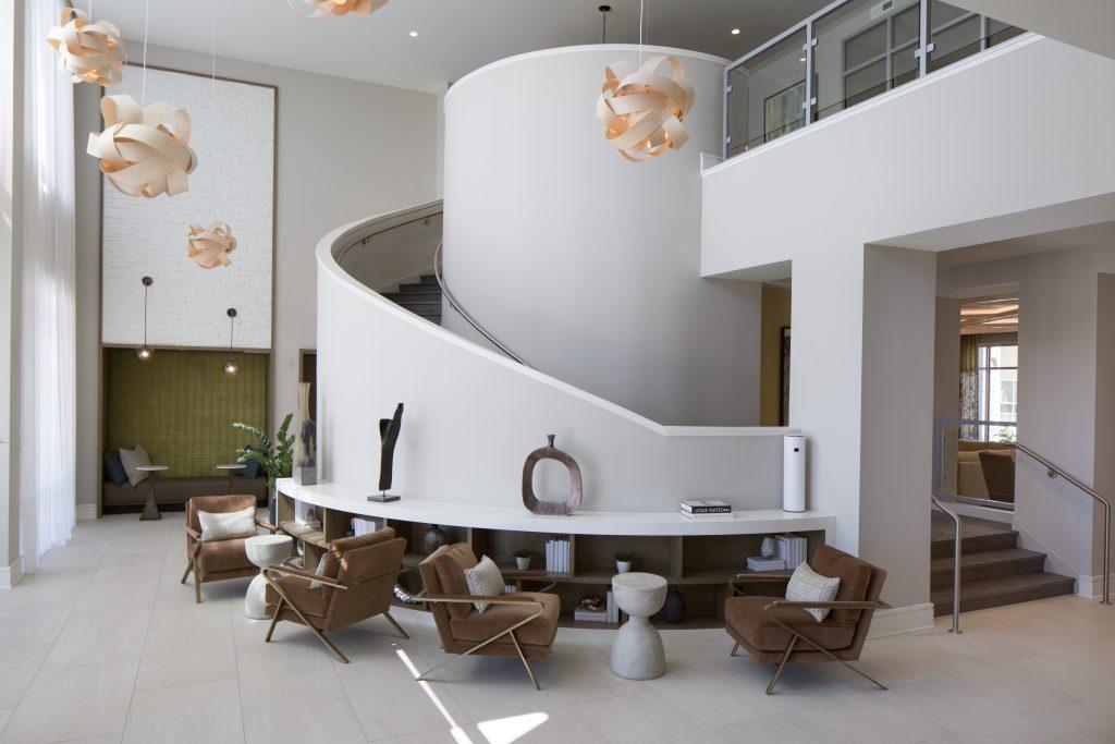 Interior Lobby of Juno Winter Park, Design-Build Multi-Unit Residential