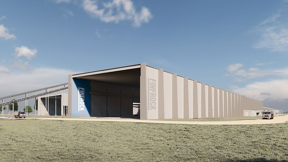 Rendering of FINFROCK's Belle Glade Manufacturing Facility